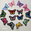 3D Computer Embroidery Muitl-Color Butterfly Clothing Patch Garment Accessory Gift Woven Patch