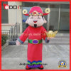 Customade Red Chinese Fortune God Adult Mascot Custome