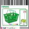 Retail Store Double Handle Plastic Shopping Basket