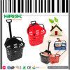 Supermarket Grocery Plastic Rolling Basket