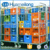 Folding Supermarket Storage Large Scale Steel Cheap Trolley