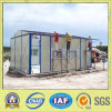 Small Prefabricated House in Work Site