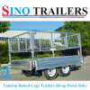 Factory Direct Drop Down Sides Tandem Trailers with Removable Cages