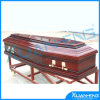 American Style Funeral Metal and Wooden Casket