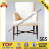 Wooden White Restaurant Dining Arm Chair