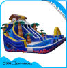 colorful PVC Ocean Type Children Inflatable Water Slide with Pool