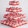 4 Tiers Transparent Acrylic Cake Stands Square Shaped Cake Holder