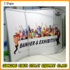 Custom 10FT S Shape Backdrop Display Stand Tension Fabric Booth for Exhibition