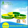 Segmented Silicon Wristband with Yellow and Green