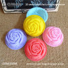 60ml Rose Rubber Cupcake Mold with Recipe Book by Bear Bakeware