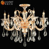 Classic Cognac Crystal Candle Chandelier Pendant Light Lamp with Glass Arms for Wedding Indoor Om88033c