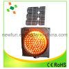 300mm Yellow LED Flashing Solar Traffic Warning Light