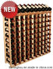 64 Bottles Classical Wine Cellar Racks Wood with Natural Varnish