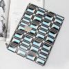 Fashion Rectangle Gemstone Shapes Patterns Designer Handbag (A098-3)