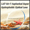 1.67 Mr-7 Aspherical Super Hydrophobic Optical Lens
