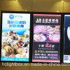 Restaurant Wall Mounted Acrylic Magnetic Frame Menu Board Light Box