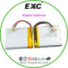 2200mAh 3.7V 804654 Rechargeable Lithium Polymer Battery with Exc