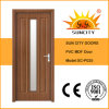 Nice PVC Veneer MDF Glass Doors (SC-P025)