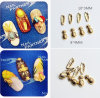 Hot Selling Japanese Style Gold Color Pineapple Feather Designs Alloy Nail Art Decoration