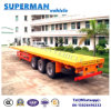 50-60t 40FT 3 Axle Flatbed Container Semi Trailer for Transport