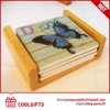 Square Ceramic Cork Cup Mat With Butterlfly Pattern for Gift