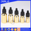 Golden Glass Essential Oil Dropper Bottle with UV Coating Chilfproof Cap