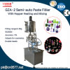 Semi-Auto Paste Filling Machine with Hopper for Cosmetic (GZA-2)
