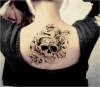 Skull Snake Design Temporary Tattoo Stickers Art Tattoo Sticker