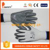 Ddsafety 2017 Grey Grip Nitrile Coated Work Glove