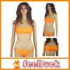 Ladies Orange Beachwear with Pad Swimsuits Sexy Bikini (KS610004)