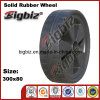 High Quality Replacement Molded Durable Wooden 300mm Rubber Wheels