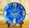 "6"" Hand Painted Art Ceramic Clock"