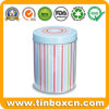 High Quality Round Recycling Metal Tin Canister for Coffee Tea