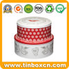 Metal Gift Box Packaging Round Cake Tins for Food Storage