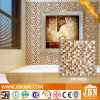 Cream Marfil Marble, Frosting and Glossy Glass Mosaic (M815059)