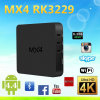 2016 Newest Android4.4 Otv Box Mx4 Rk3229 H. 265 2.0 Android TV Box Decoding Better Than Mxq From Dragonworth Factory Price