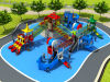 2016 Plastic Material and Outdoor Playground Type Kids Play Equipment Slides (HD16-016A)