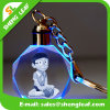 Cartoon Exquisite 3D Laser Crystal Keychain with Glass (SLF-OK008)