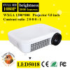 200W 3000lm, 1280*800 LED Android WiFi Projector with AV/VGA/HDMI/TV/USB