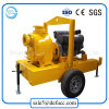 Self Priming Diesel Engine Dirt Drain Centrifugal Pump with Trailer