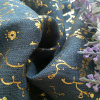 Holographic Foil Glod Flower Heat Printing for Textile Fabric