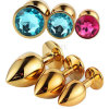 5 PCS/Lot Large Size Metal Suppository Crystal Jewelry Stimulation Butt Plug Anal Plugs Massager Erotic Sex Toys for Women Men