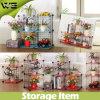 Multilayer Wire Grid DIY Metal Rack Cabinet Storage Shelf
