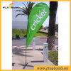 Exhibition Fiberglass Portable Small Size Beach Flag/Flying Flag