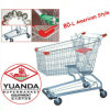 80L American Style Supermarket Shopping Trolley Cart