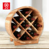 Delicate French Design Open End Wooden Barrel Wine Rack
