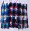 Mercerized Wool Yarn Dyed Wool Scarve with Lycra