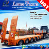 4 Axles Goose Neck Low Boy Semi Trailer for Paraguay