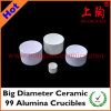 Big Diameter Ceramic 99 Alumina Crucibles