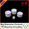 Big Diameter Ceramic 99 Alumina Crucibles